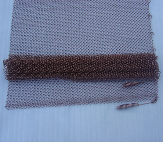 Mesh Curtain Panels : Chain link mesh spark fireplace curtains