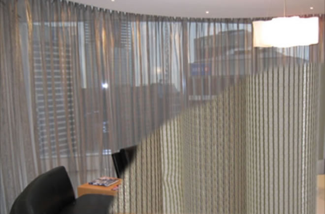 Suspended Stainless Steel Mesh Chain Curtains For Interior