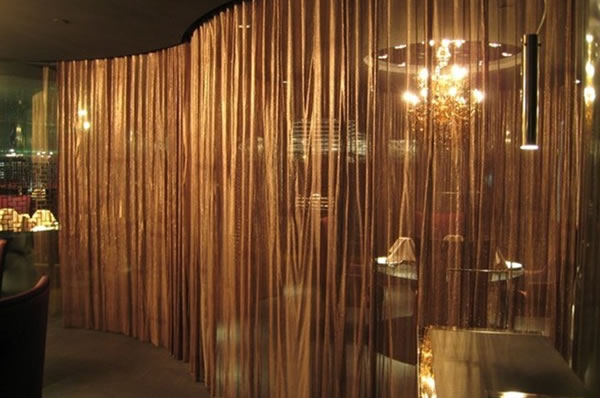 Metal Wire Mesh Curtains Decorative Fabrics For Interior