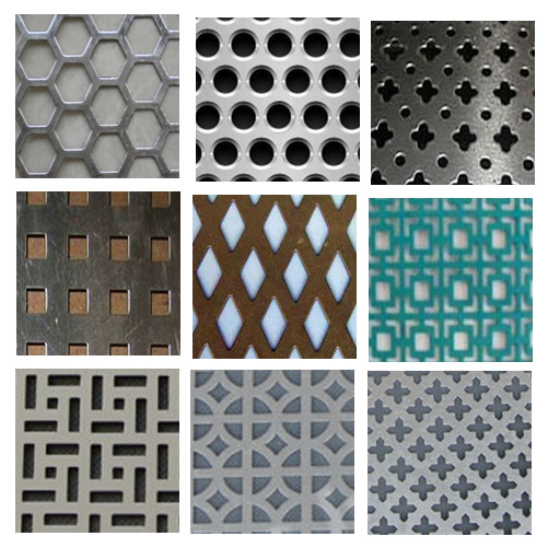 Perforated Metal Screen with Various Hole Patterns