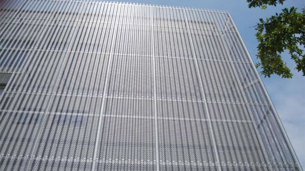 Perforated Metal Cladding For Building